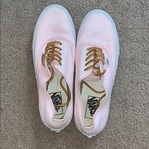 Light Pink Vans with Leather Laces